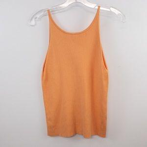 Abound Sherbert Orange Ribbed Sweater Knit Tank XL